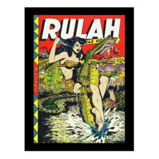 Banda desenhada do Rulah-Vintage Cartoes Postais