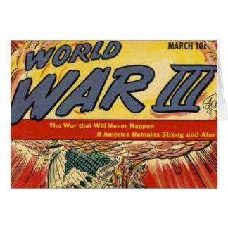 Banda desenhada do vintage da guerra mundial 3 cartões