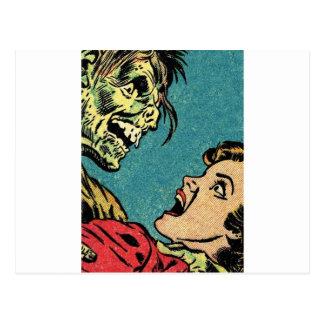 banda desenhada do vintage villan cartão postal