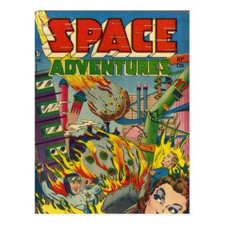Banda desenhada dos aventureiros do espaço cartão postal