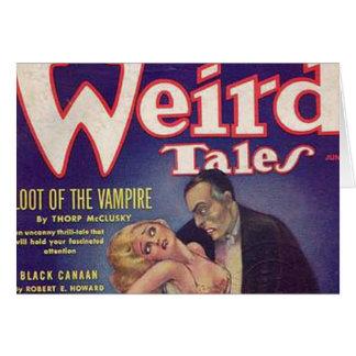 Banda desenhada estranha do vampiro dos contos cartão comemorativo
