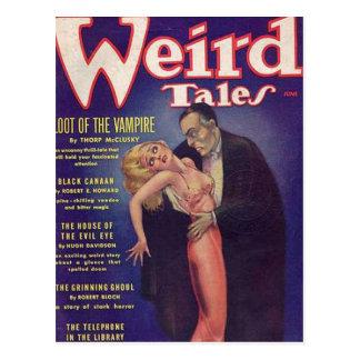 Banda desenhada estranha do vampiro dos contos cartão postal