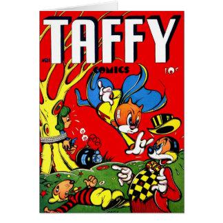 Banda desenhada retro do Taffy do kitsch 40s do vi Cartão