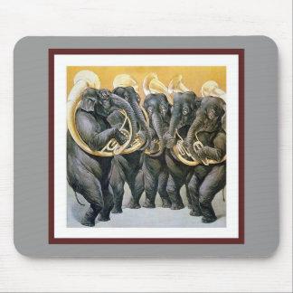 Banda filarmónica do elefante mouse pad