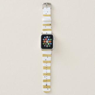 Banda listrada & preta do ouro dos pontos de Apple