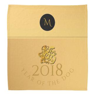 Bandana 2018 chinês do monograma de Papercut do