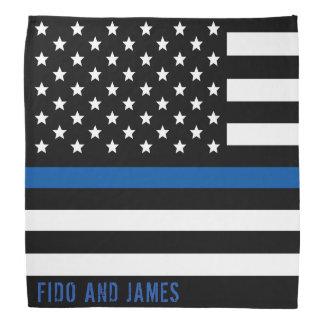 Bandana A bandeira americana fina de Blue Line da polícia