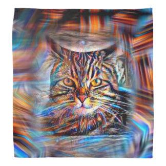 Bandana À deriva no gato abstrato da revolução das cores