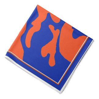 Bandana alaranjado azul da camuflagem