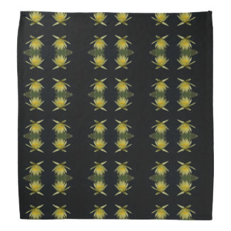 Bandana amarelo de Lotus Waterlily