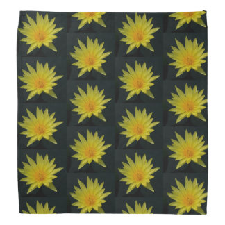 Bandana amarelo de Lotus Waterlily