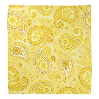 Bandana Amarelo do teste padrão de Paisley elegante