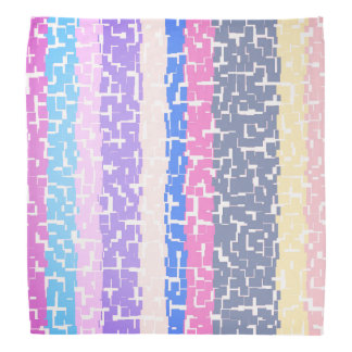 Bandana Amarelo multicolorido/cinzas/bege/rosa/roxo/azul