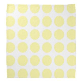 Bandana amarelo pálido das bolinhas