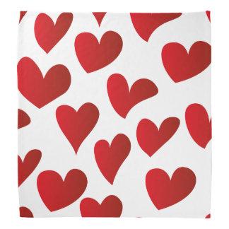 Bandana Amor vermelho pintado teste padrão do coração da