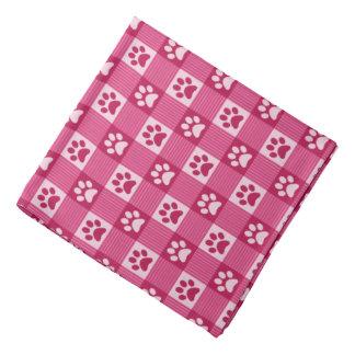 Bandana Animal de estimação cor-de-rosa bonito do teste