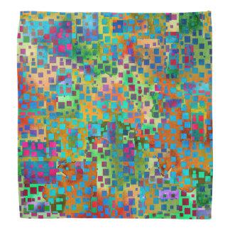 Bandana Arte abstrata colorida de Digitas com quadrados