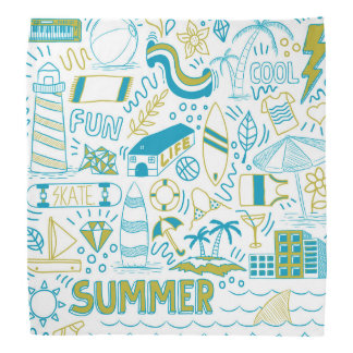 Bandana Arte do Doodle do verão