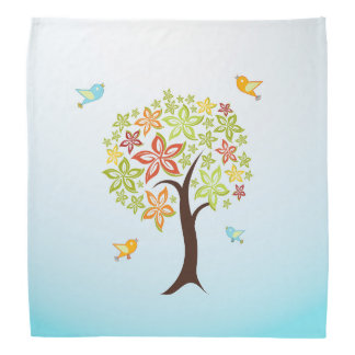 Bandana Árvore e pássaros