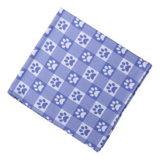 Bandana Azul bonito da pervinca do teste padrão do guingão