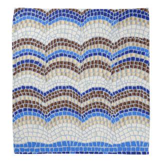 Bandana azul do mosaico
