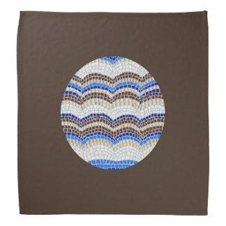 Bandana azul redondo do mosaico