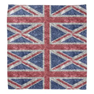 Bandana Bandeira de Union Jack - enrugada