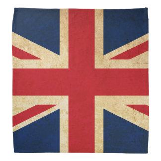 Bandana Bandeira velha Union Jack de Reino Unido do Grunge