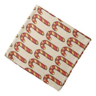 Bandana Bastão de doces do biscoito do Natal do Peppermint
