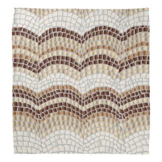 Bandana bege do mosaico