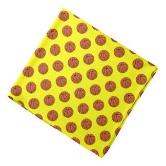 Bandana Bolas do basquetebol de Brown no amarelo