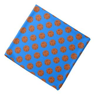 Bandana Bolas do basquetebol de Brown no azul Azure