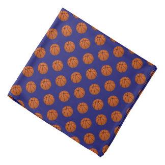 Bandana Bolas do basquetebol de Brown no azul da