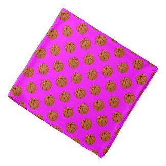 Bandana Bolas do basquetebol de Brown no rosa