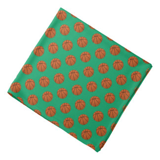 Bandana Bolas do basquetebol de Brown no verde do trevo