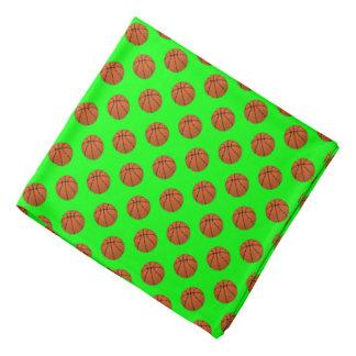 Bandana Bolas do basquetebol de Brown no verde limão