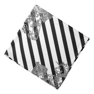 Bandana Bolso de prata branco da lapela do emblema do leão