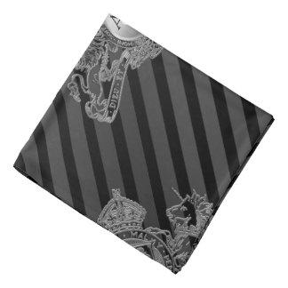 Bandana Bolso preto da lapela do emblema do leão da prata