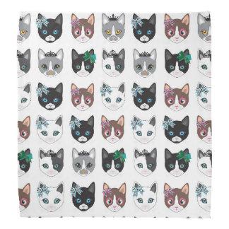 Bandana bonito do design da ilustração dos gatos