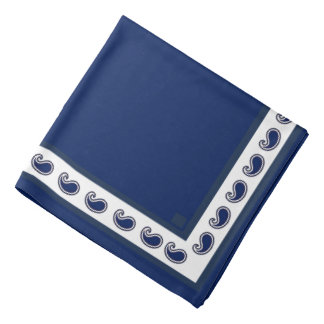 Bandana branco azul de Paisley