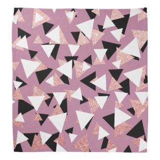 Bandana Brilho cor-de-rosa do ouro dos triângulos
