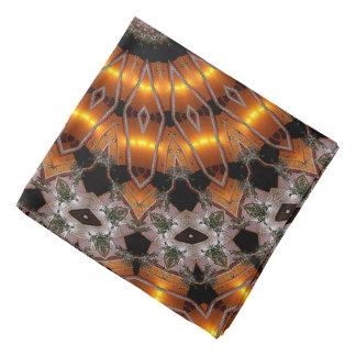 Bandana Brown e teste padrão concêntrico abstrato do roxo
