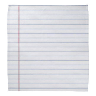Bandana Caderno Hankerchief de papel