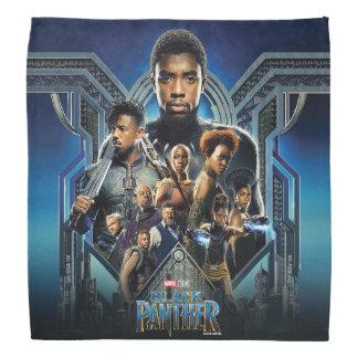 Bandana Caráteres da pantera preta | sobre Wakanda