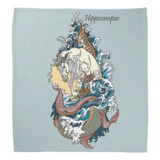 Bandana cavalo de mar mitológico