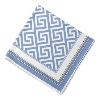 Bandana celta branco azul macio bonito do teste