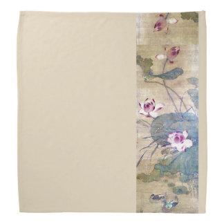 Bandana chinês dos patos das flores de Lotus da