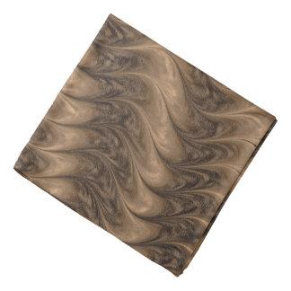Bandana Cinzas da arte da abstracção e textura ondulada