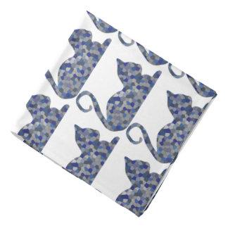 Bandana cinzento Relaxed do gato do mosaico de Ble