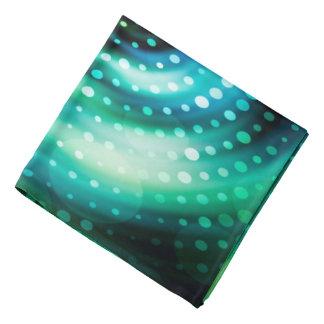 Bandana Círculos concêntricos verdes & brancos do design